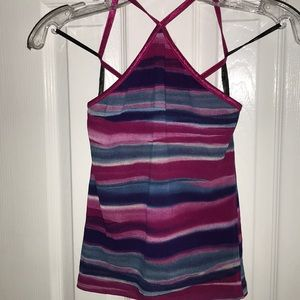 Bebe criss cross tank top